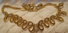 Vintage Sarah Coventry Gold Tone Rhinestone by ViksVintageJewelry, $24.99