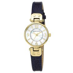 65 GBP Anne Klein Ladies' White Dial Navy Leather Strap Watch - Product number 1838830