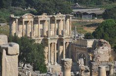 De oude Romeinen stad Efeze