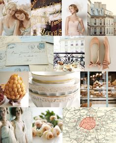 Just Say 'Oui' To A French Blue And Blush Color Scheme For Your Wedding...hmmm