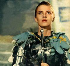 Joan Of Arc, portrayed by Jean Seberg. #saintjoan #joanofarc #jeanseberg