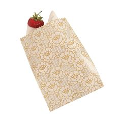 Lace Printed Cake Bags - OrientalTrading.com Gold 6.25 / 50