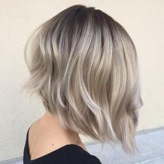 Angled+Layered+Silver+Blonde+Bob