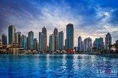 Dubai Fountain Skyline - null