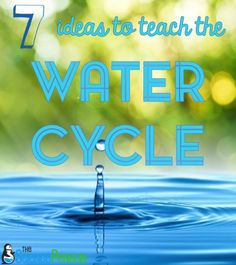 7 Ideas for Teaching the Water Cycle-- water baggie, simulation cubes, notebook freebie, and more!