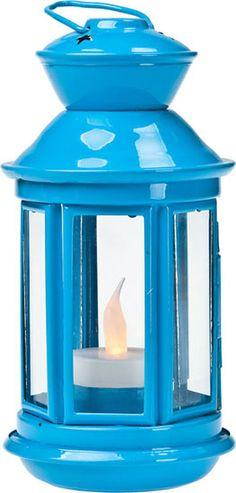 Blue Hurricane Lantern