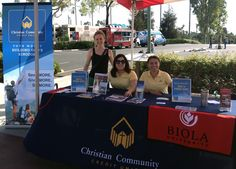 Christian Community Credit Union participated in the 2014 Biola Weekend festivities along with Biola alumni, students, family and friends. Here, staff Suzee and Karina are joined at the Credit Union's booth by Biola student Heather.   To learn more about the special offers we have for our Biola family, please visit https://www.mycccu.com/BiolaOffer!