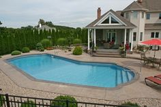 View our Lazy L Inground Pool Gallery. Juliano's Pools can help you with your pool project, we serve Western Massachusetts, Connecticut, and Rhode Island