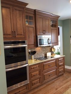 Shiloh cabinetry maple acorn with vandyke glaze on for Acorn kitchen cabinets