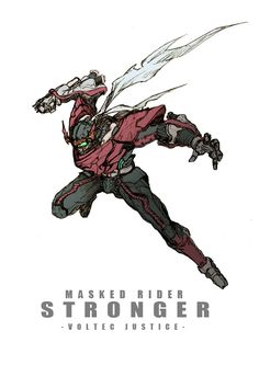 Kamen Rider Stronger - whose the artist Character Concept, Character Art, Concept Art, Rider Strong, Pen & Paper, Showa Era, Kamen Rider Series, Sci Fi Characters, Action Poses