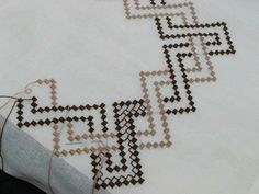 Discover thousands of images about Embroidery Kasuti Embroidery, Beaded Embroidery, Embroidery Patterns, Hand Embroidery, Quilt Patterns, Cross Stitch Designs, Cross Stitch Patterns, Swedish Weaving Patterns, Bargello Needlepoint