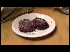 I used beef fillets for this experiment of a quick fast way to dry age steaks at home, in your own kitchen. This is how Alton Brown did it on his television . Dry Aged Steak, Beef Fillet, Alton Brown, Smoking Meat, Lamb, Steaks, Dinner, Dyi, Kitchen