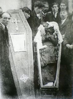 The mutilated body of Patrick Loughnane, age 29, Volunteer of the Irish Republican Army, tortured to death alongside his younger brother Harry, age 22, by the Royal Irish Constabulary, Britain's feared colonial police force in Ireland, 1920.