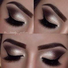 """Perfectly blended nude lid, amazing brows and lashes in love with this look by @the_beauty_parlour""  