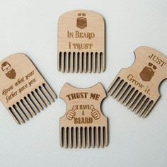Items similar to Wood Beard Comb Pocket comb Men gift Grooming accessory Beard care Gift for man Lumberjack fashion style Funny Father's day gift on Etsy Unique Gifts For Men, Gifts For Him, Personalized Gifts For Men, Laser Cutter Ideas, Beard Humor, Wooden Gifts, Practical Gifts, Beard Care, Laser Engraving