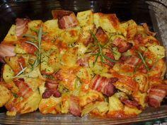 Gebackene Ofenkartoffel Rezepte mit Rosmarin, Käse, Speck Warum heute B . Bacon, Baked Potato Recipes, Baked Potatoes, Foil Potatoes, Rosemary Potatoes, Cheese Potatoes, Good Food, Yummy Food, Delicious Recipes