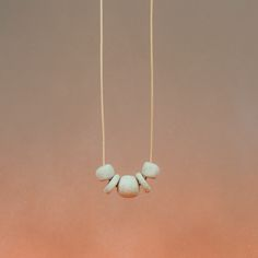 Image of Beaded Concrete Necklace - A
