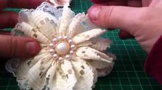 fabric flower tutorial - YouTube