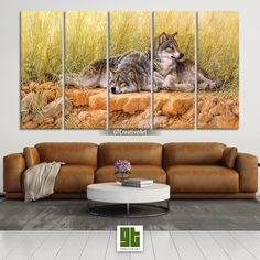 Wolf Wall Art, Forest Wolf Print on Canvas, Wild Animal Art, Wolf Poster, Wildlife Painting by GTCreativeArt on Etsy Bird Wall Art, Home Wall Art, Wolf Poster, Forest Decor, Fairy Tree, Wildlife Paintings, Animal Decor, Tree Print, Canvas Frame