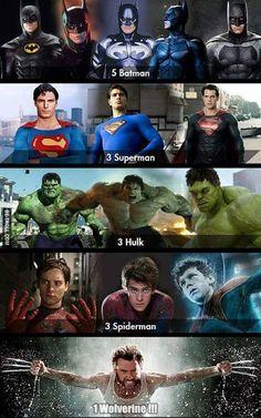 Un seul Wolverine ! #Batman #Superman #Hulk #Spiderman
