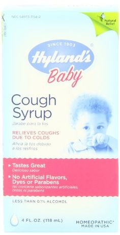 Hyland's Baby Cough Syrup, 4 Fluid Ounces Hyland's Homeopathic  Need to ask dr watts about this
