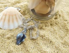 Sea Shell necklace  BeachNecklace  Beach Wedding  by KingsfieldInn