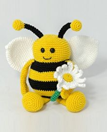 Biene Emma Häkeln Maskotki Croch