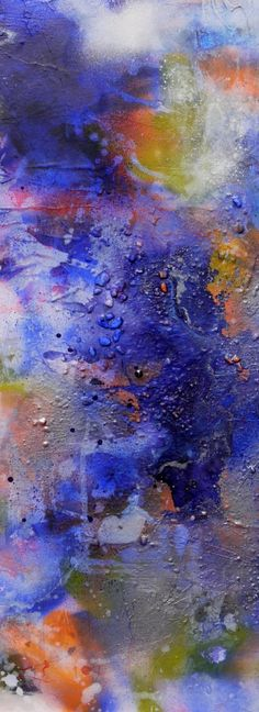 Interstellar Ocean, by Daniela Schweinsberg. Abstract painting. Acrylic painting.