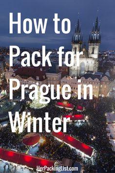 How to Pack for Prague in Winter. Good tips regardless of season