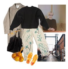 """Want these pantsss :>>"" by linneminne ❤ liked on Polyvore featuring Ganni, Balenciaga, Illesteva and Pier 1 Imports"
