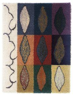 """Nine tales"" design: Nina Nisonen Rya Rug, Wool Rug, Textiles, Scandinavian, Bohemian Rug, Mid Century, Quilts, Contemporary, Rugs"