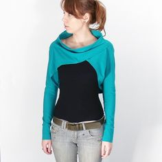 Turquoise Long Sleeve Shrug Bolero   also in by bevisible on Etsy, €35.00