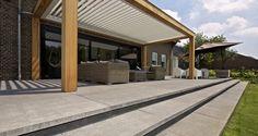 Inspiratietuin Must Have Porch And Terrace, Outdoor Lounge, Outdoor Decor, Garden Design, House Design, Beautiful Interiors, Garden Paths, Entrance, New Homes