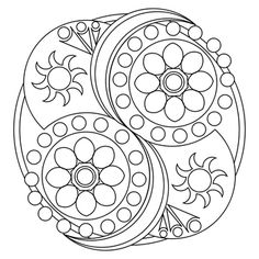 Mandala Art Template / Printable Sub some moons and stars in there and i've got a good starting point for a tattoo