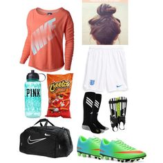 Soccer outfit – World Soccer News Soccer Outfits, Sporty Outfits, Athletic Outfits, Girl Outfits, Cute Outfits, Fashion Outfits, Soccer Clothes, Women's Fashion, Soccer Gear