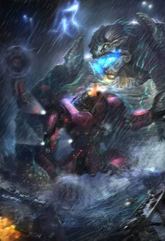Pacific Rim - Jaeger by Chung Ling * From one dimension to another.