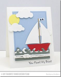 Sailor Girl, Blueprints 21 Die-namics, Cloud Cover-Up Die-namics, Making Waves Die-namics, Sailboat Die-namics, Zig Zag Stitched Rectangle STAX Die-namics - Barbara Anders  #mftstamps