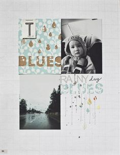 Rainy Day Blues *Page of my Book Challenge* by lifelovepaper at Studio Calico