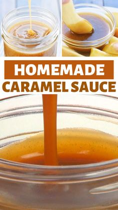 This Homemade Caramel Sauce is the best caramel recipe with just five ingredients ready in five minutes! It's a thick gooey and easy caramel sauce perfect for apples brownies ice cream or as a gift! Add this recipe to your fall season menu list! Sauce Caramel, Homemade Caramel Sauce, Easy Recipe For Caramel, Caramel Sauce Recipe Without Corn Syrup, Brown Sugar Caramel Recipe, Starbucks Caramel Drizzle Recipe, Caramel Filling For Cake, Toffee Sauce Recipe, Caramel Glaze Recipe