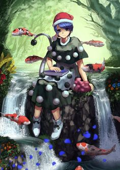 Doremy sitting in a river