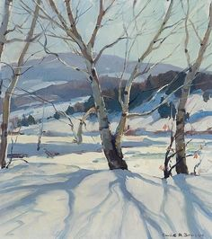 super Ideas for winter landscape paintings oil snow scenes Painting Snow, Winter Painting, Winter Art, Watercolor Landscape, Landscape Art, Landscape Paintings, Watercolor Paintings, Watercolors, Winter Scenes