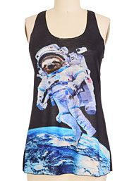 Sloth in Space Tank Top