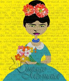 CLIP ART DOLL Frida Kahlo Fabric Quilt Panel FKFB098. Frida Kahlo Fabric, Panel Quilts, Art Dolls, Clip Art, Disney Princess, Trending Outfits, Disney Characters, Unique Jewelry, Handmade Gifts
