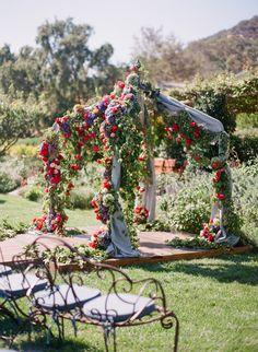 Lush blooms! Photography: Corbin Gurkin - www.corbingurkin.com Read More: http://www.stylemepretty.com/2015/03/10/colorful-summer-wedding-at-san-ysidro-ranch-part-ii/