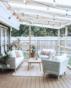 Did you want make backyard looks awesome with patio? e can use the patio to relax with family other than in the family room. Here we present 40 cool Patio Backyard ideas for you. Hope you inspiring & enjoy it . Home, House Exterior, House Design, Outdoor Decor, Patio Design, New Homes, Outdoor Rugs Patio, Patio Rugs, Lets Stay Home