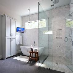 Corner Marble Shower Bench