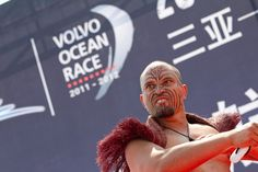 Departure ceremony Kapa Haka Group perform in the race village prior to the start of leg 4 of the Volvo Ocean Race 2011-12, from Sanya, China to Auckland, New Zealand.