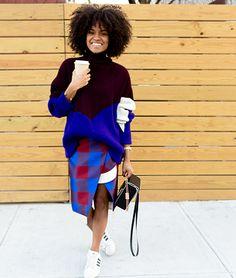 #SweaterReFashionInspo Colorblocking