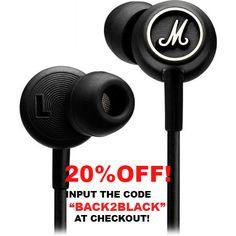 Mobile App Design, Go Shopping, Headphones, Black And White, Headpieces, Black N White, Ear Phones, Black White
