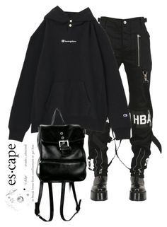 """Untitled #652"" by jenxorose ❤ liked on Polyvore featuring Hood by Air"